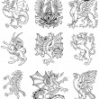 Royalty-Free Stock Vector Image: Heraldic monster vol II