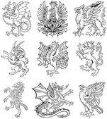 Heraldische Monster Vol ii — Stockvektor