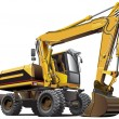 Light-brown excavator — Stock Vector