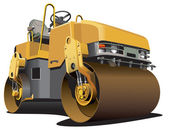 Small road roller — Stock Vector