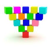 Inverterad pyramid — Stockfoto