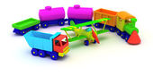 Toy transport — Stock Photo