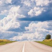 Road to uncertainty — Stock Photo