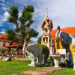 Stock Photo: Statues of elephants