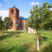 Red brick church — Stock Photo