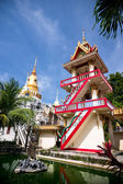 Bell-tower in buddhist temple — Stock Photo