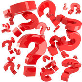 Red questions — Stock Photo
