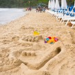 Toys on the beach — Stock Photo #5445304