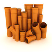 Set of pipes — Stock Photo