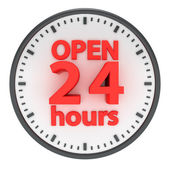 Open 24 hours — Stock Photo