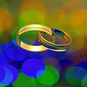 Interlocked rings — Stock Photo