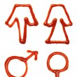 Gender symbols — Stock Photo