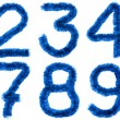 Blue digits — Stock Photo