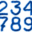Stock Photo: Blue digits