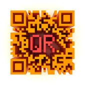 Big color QR-code — Stock Photo