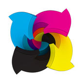 CMYK swirl — Stock Photo