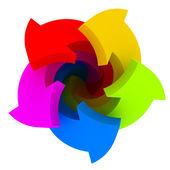 Five color arrows — Stock Photo