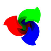 RGB twirl — Stock Photo