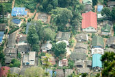 Top view of village — Stock Photo