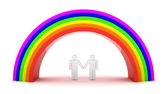 Homosexual couple — Stock Photo