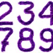 Stock Photo: Violet digits