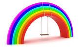 Rainbow swing — Stock Photo