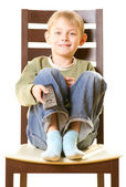 Boy with remote control — Stock Photo