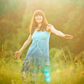Carefree girl — Stock Photo