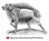 I Love (Heart) German Shorthaired Pointers: Pencil — Stock Photo