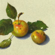 Wild Apples: Still Life in Color Pencil — Stock Photo