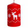 Red candle with deer — Stock Photo