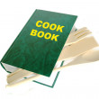 Stock Photo: Green cook book