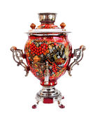 Russian traditional samovar isolated — Stock Photo