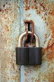 Grunge padlock — Stock Photo