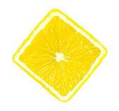 Lemon slice isolated — Stock Photo