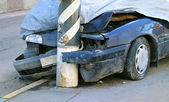 Gebroken gecrashte auto — Stockfoto
