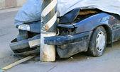 这辆破撞毁的汽车 — 图库照片