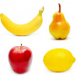 Fruits set isolated — Foto Stock