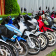 Stock Photo: Many motobikes