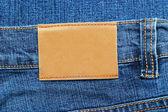 Blue jeans etiket — Stockfoto