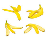 Banana peel set — Stock Photo