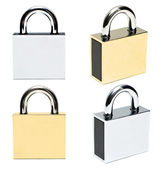 Padlocks isolated — Stock Photo