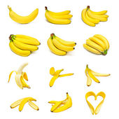 Ripe bananas set — Foto Stock