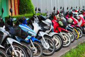 Many motobikes — Stock Photo