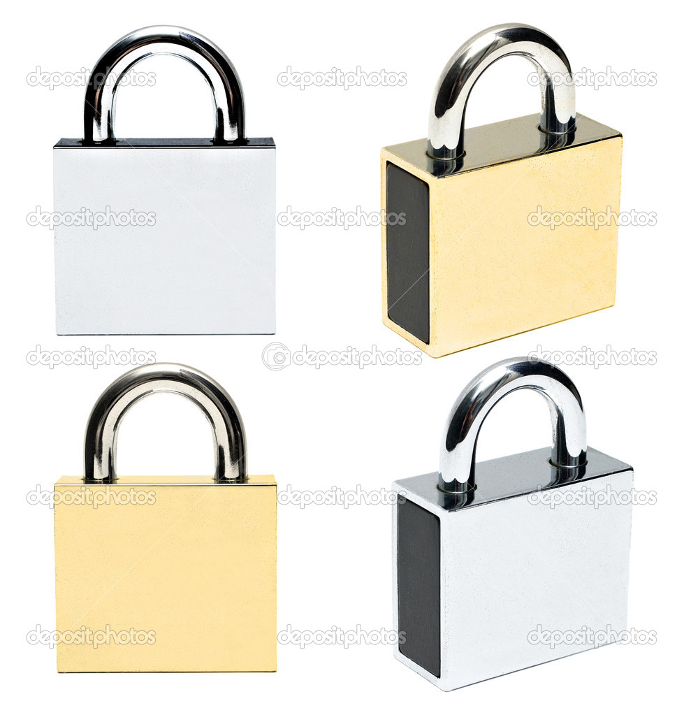 Padlocks isolated on white background  Stock Photo #5827750