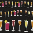 Cups and glasses of different colors — Stock Photo