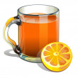 Illustration of a pitcher of orange juice — Stock Photo