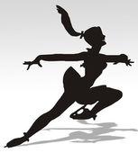 Illustration of a woman skating — Stock Photo