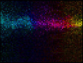 Multicolor abstract lights disco background — Vetor de Stock