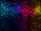 Multicolor abstract lights disco background. Square pixel mosaic — Vettoriale Stock